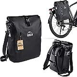 Borgen Fahrradtasche für Gepäckträger 3in1 Fahrrad Rucksack I Gepäckträgertasche I Umhängetasche - 25L Kombi Fahrrad Tasche - 100% wasserdicht und reflektierend mit herausnehmbarer Laptoptasche