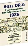 ATLAS DR-G 1926 - Übersichtskarte der Eisenbahnen Deutschlands: EISENBAHN-VERKEHRSKARTE - Gesamtes Eisenbahnnetz des DEUTSCHEN REICHES der Deutschen Reichsbahn - Gesellschaft