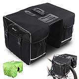 West Biking Fahrradtasche Doppeltasche Gepäckträger Tasche, 30L wasserdichte Große Packtaschen, Rücksitz-Kofferraumtasche mit Gurt, Reißfeste Gepäcktasche für Pendlergepäckträger mit Regenschutz